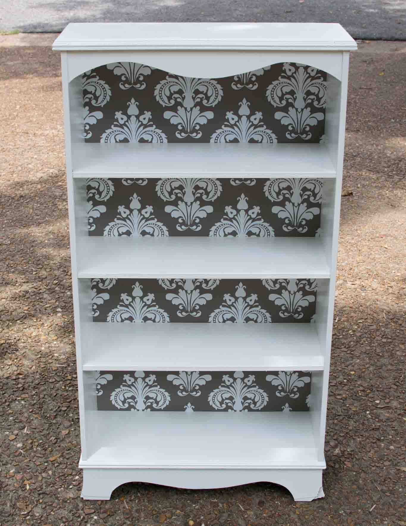 The step-by-step to repurposing an ugly bookcase