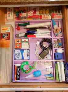 A creative, and fast, solution for organizing your junk drawer