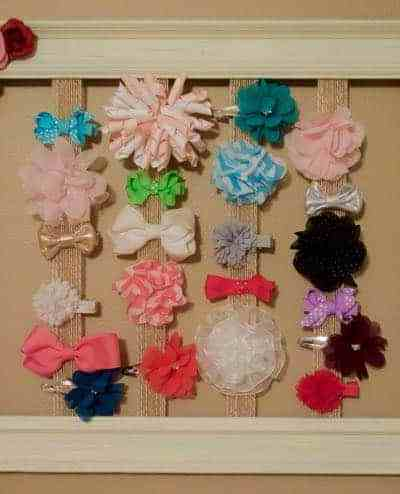 DIY Little Girl Hair Bow Holder