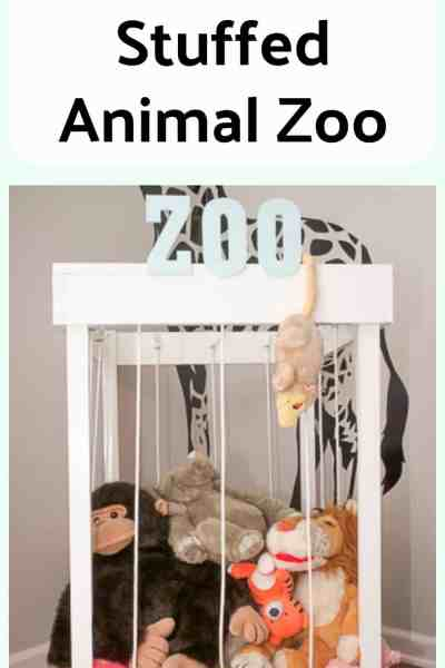 Check out this step-by-step tutorial for how to build a stuffed animal zoo. What a cute way to keep all of the stuffed animals contained!