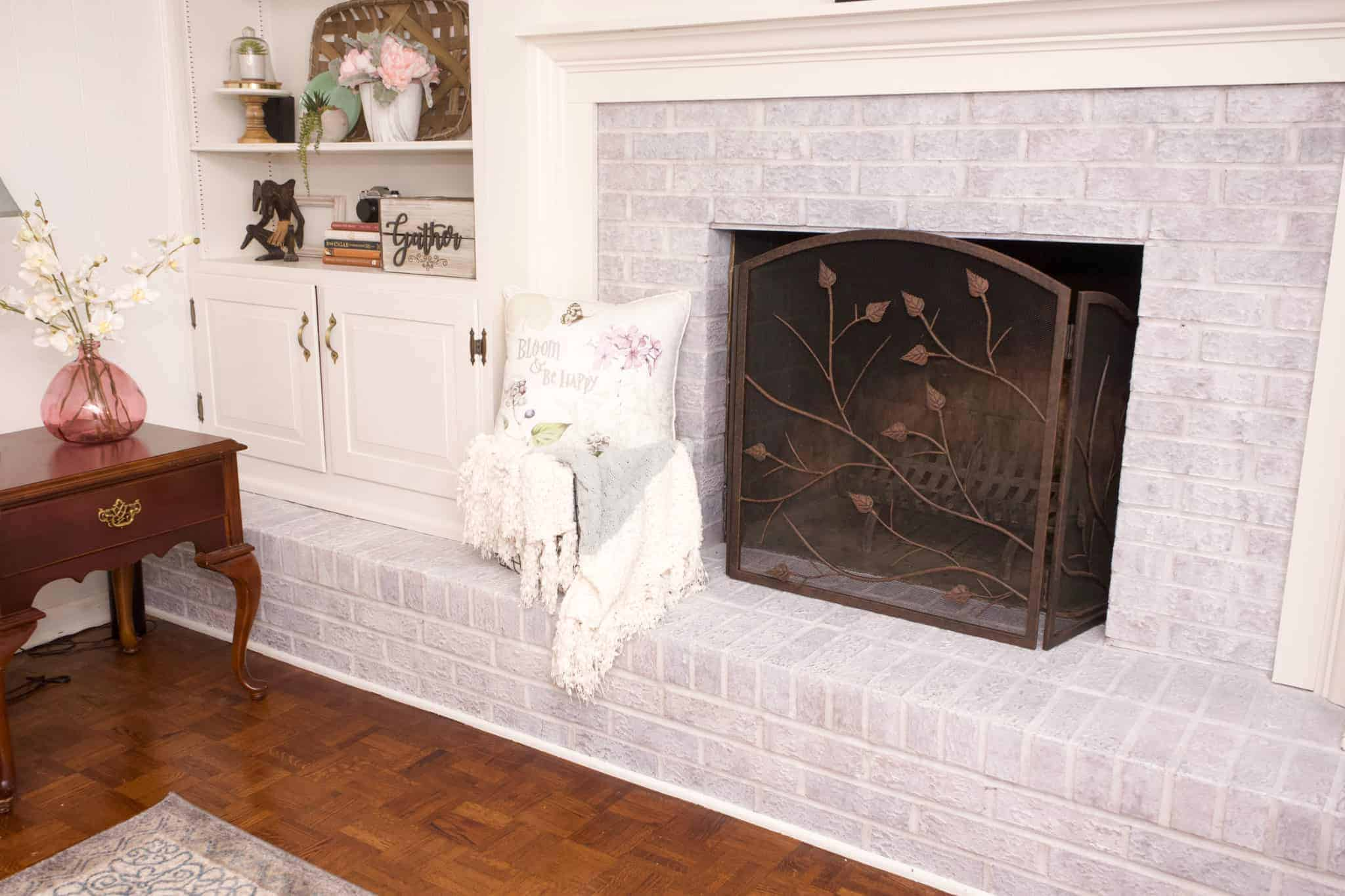 How To Whitewash A Brick Fireplace Health Home And Heart
