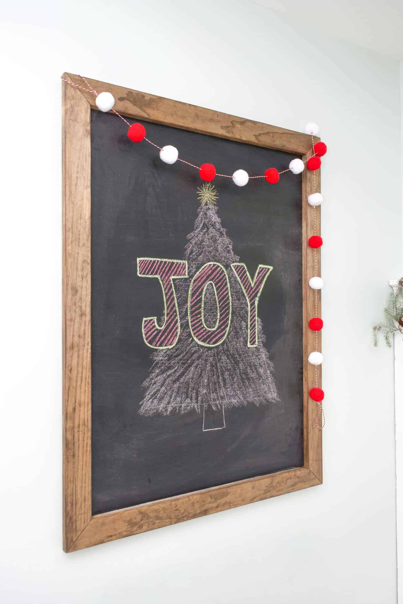 Check out this tutorial for an easy DIY large chalkboard. Great for the kitchen, living room, kid's playroom, bedroom, etc.