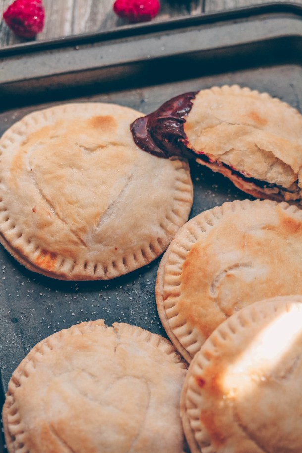 Jam-Filled Hand Pies with Healthy Chocolate Sauce