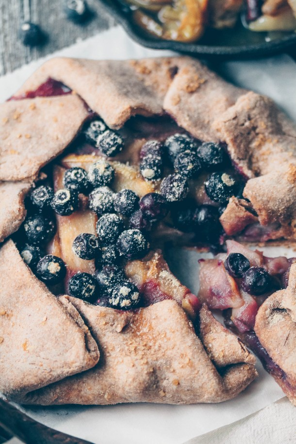 Pear Blueberry Galette w/ Whole Wheat Crust