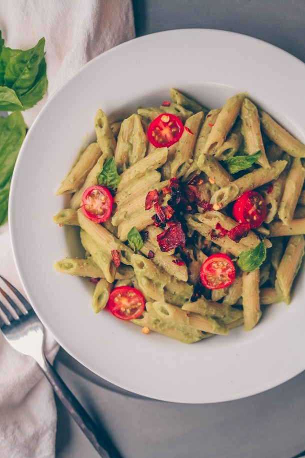 Easy + Creamy Avocado Pasta