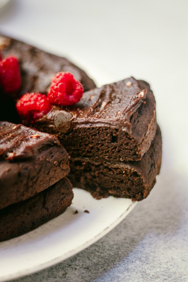 Unbelievable Healthy Double Chocolate Cake | Gluten-free & Vegan