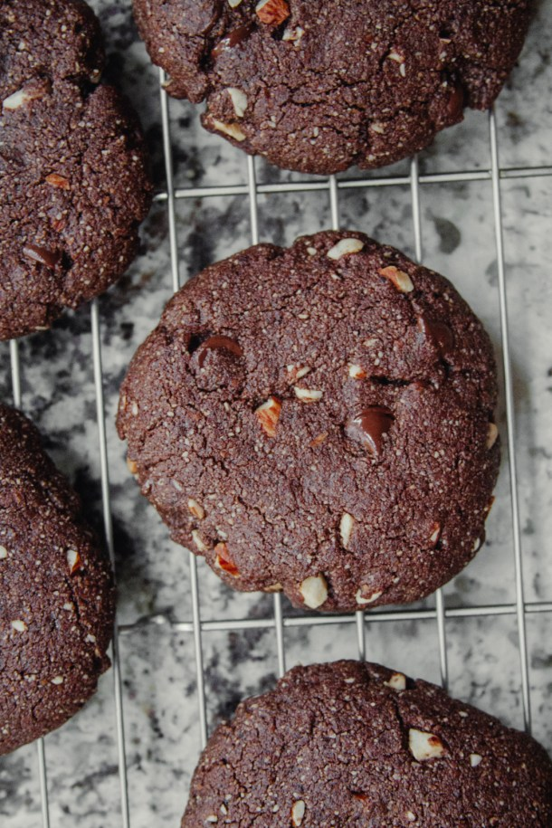 Gluten-free Jamocha Almond Fudge Cookies
