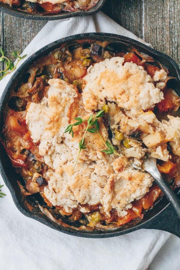 vegan butternut squash pot pie