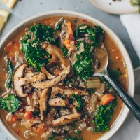 Instant Pot Vegan Wild Rice Soup