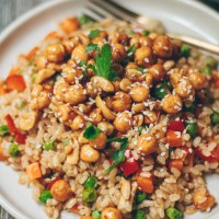 Sweet & Sour Cashew and Chickpea Fried Rice