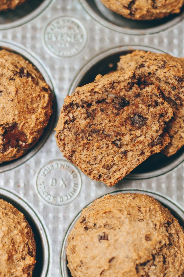 chocolate chip chai muffins