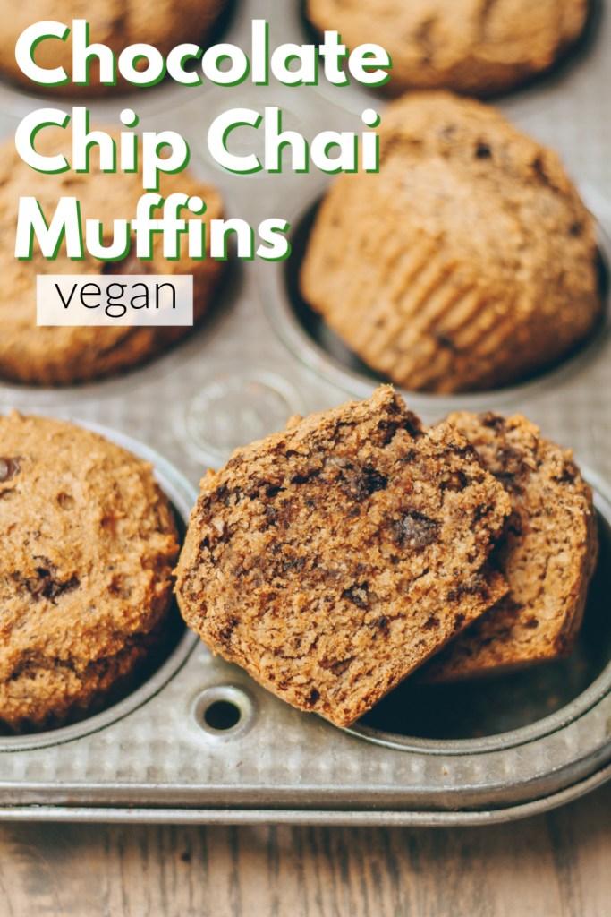 chocolate chip chai muffins