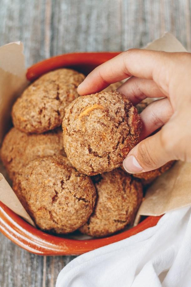 cinnamon sugar sweet potato cookies
