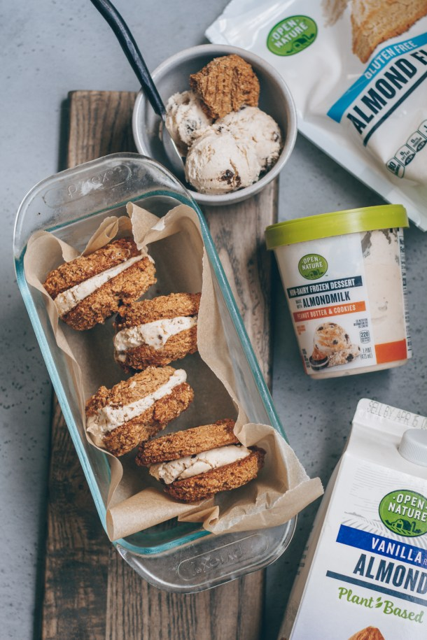 vegan peanut butter ice cream sandwiches