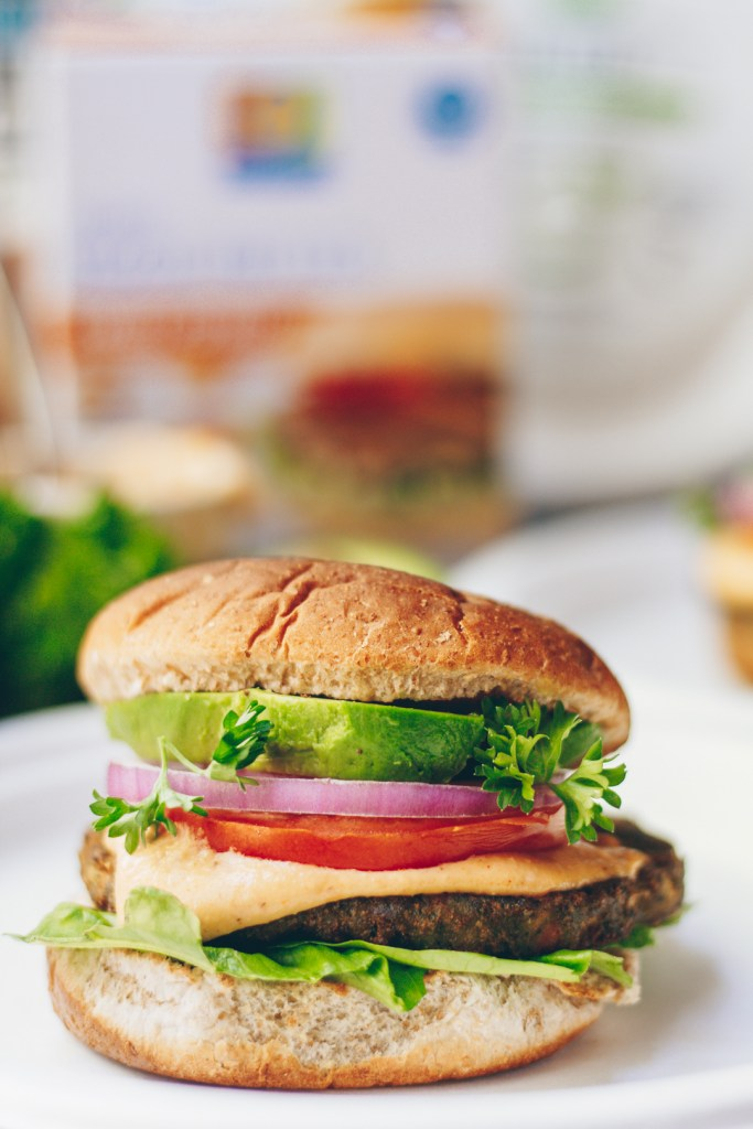 Easy Veggie Burgers with Creamy Smoked Garlic Aioli
