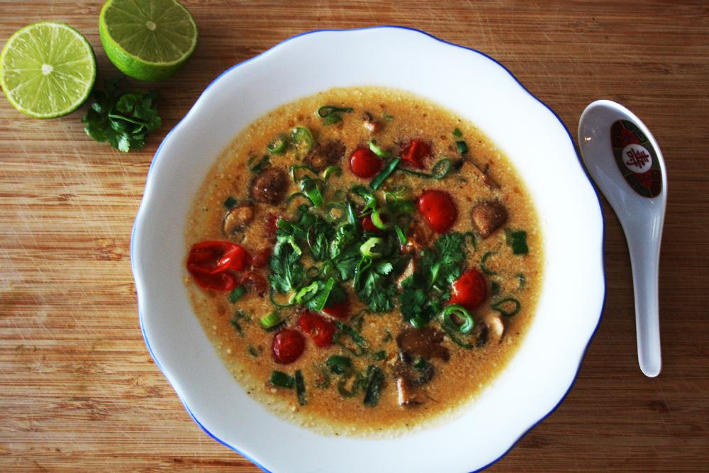 Thailändische Kokossuppe