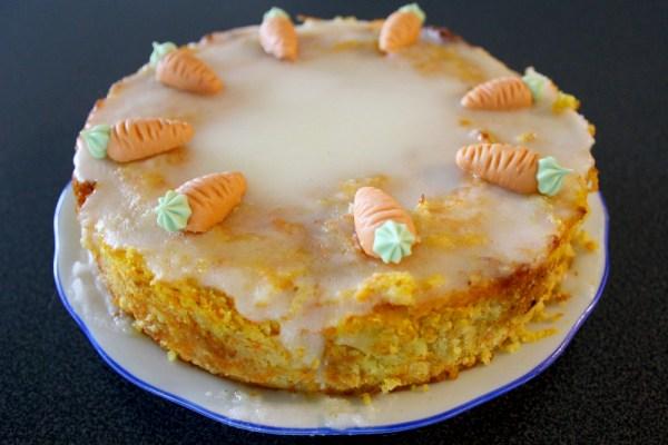 Karottenkuchen aus weißen Bohnen