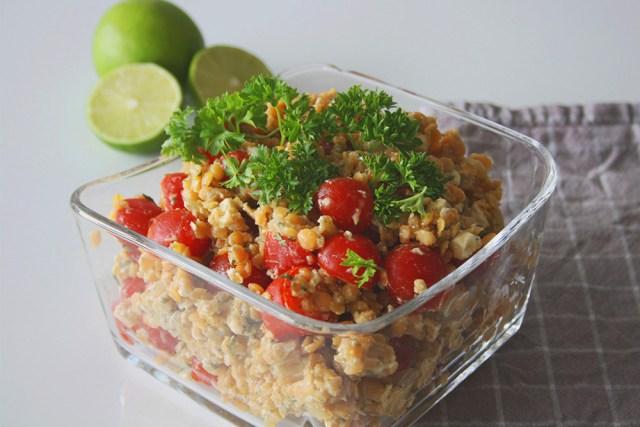 Linsensalat: Leckerer Salat als Grillbeilage
