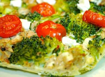 Eiwitrijke quiche met broccoli en tonijn