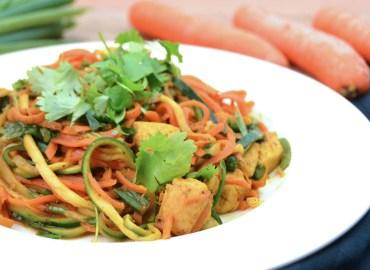 Wortel courgette noodles