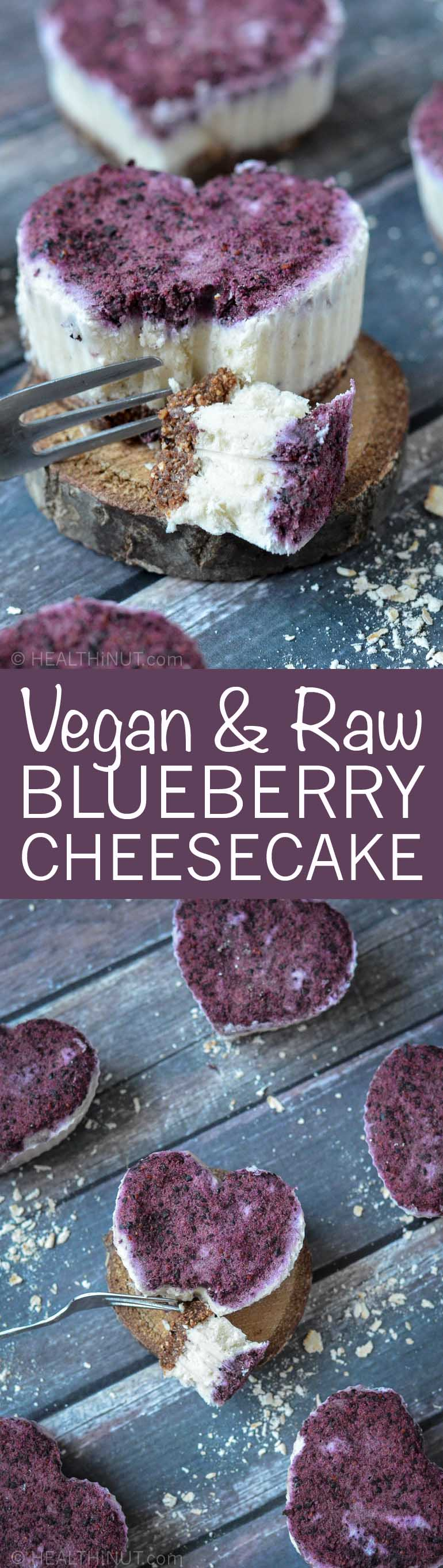 Delicious Vegan & Raw Mini Blueberry Cheesecakes!! Yum!!