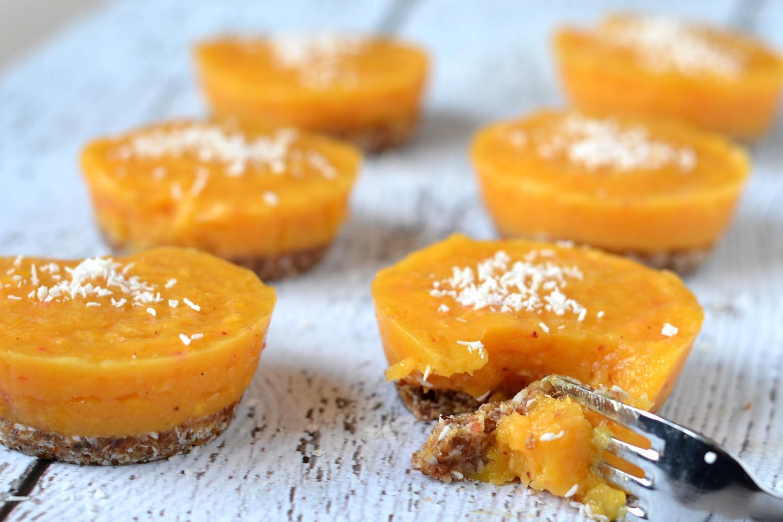 Mini mango taartjes met kokos recept (vegan en glutenvrij)