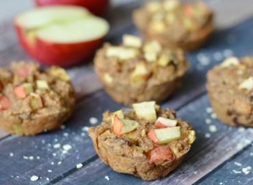 Vegan appel kaneel muffins zonder banaan