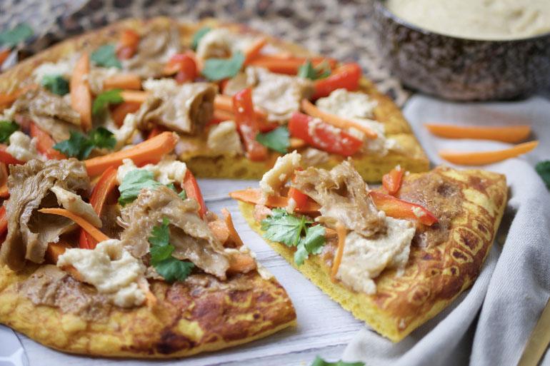 pompoen pizza bodem recept vega kip