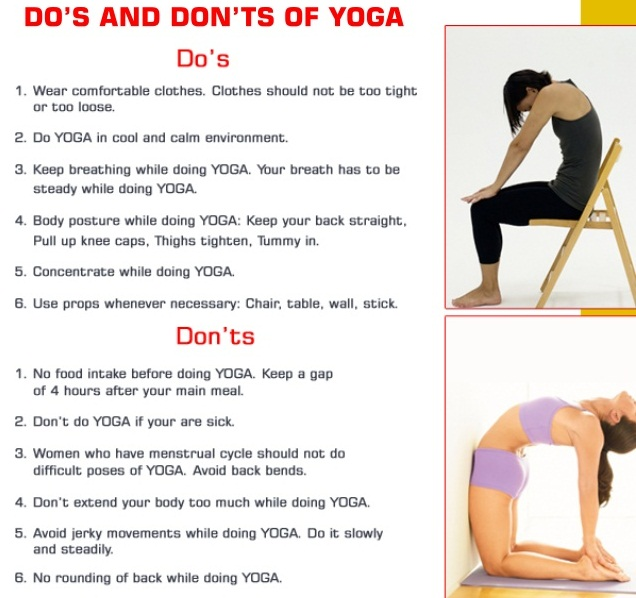 yoga breathing exercises do's and don'ts