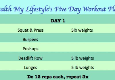 Five Day Workout Plan Day 1