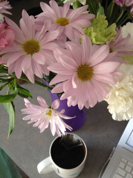 flowers and tea