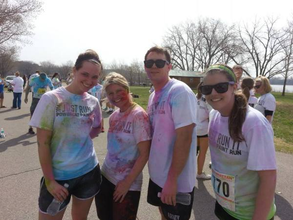 MBA post-race color run