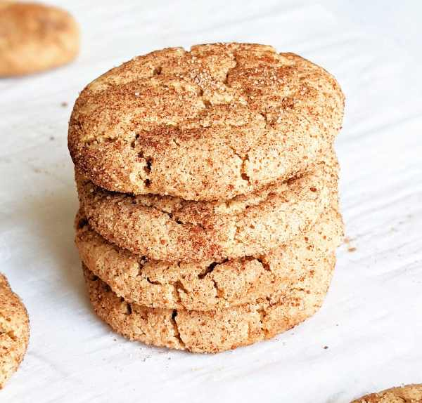 a stack of snickerdoodle cookies