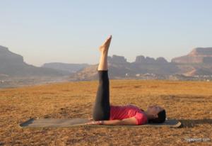 legs raised yoga asana to burn fat
