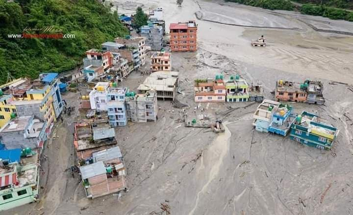 Flood disaster due to Monsoon in Nepal