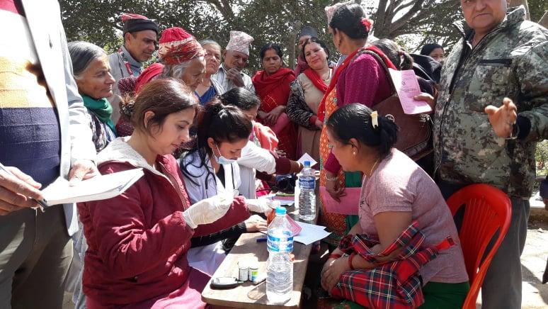 स्याङ्जा जिल्लाको कालिगण्डकी-५ जैपते स्थित श्री बिरेन्द्र मा. बि मा भएको नि-शुल्क स्वास्थ्य शिविर तथा औषधि वितरण कार्यक्रम