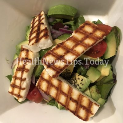 Mediterranean Avocado and Halloumi Salad