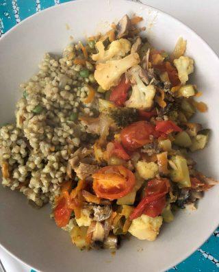 Mediterranean Sardines and Vegetable Buckwheat