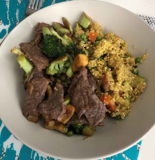 Minute Steak and Stir-Fry Vegetables & Vegetables Buckwheat