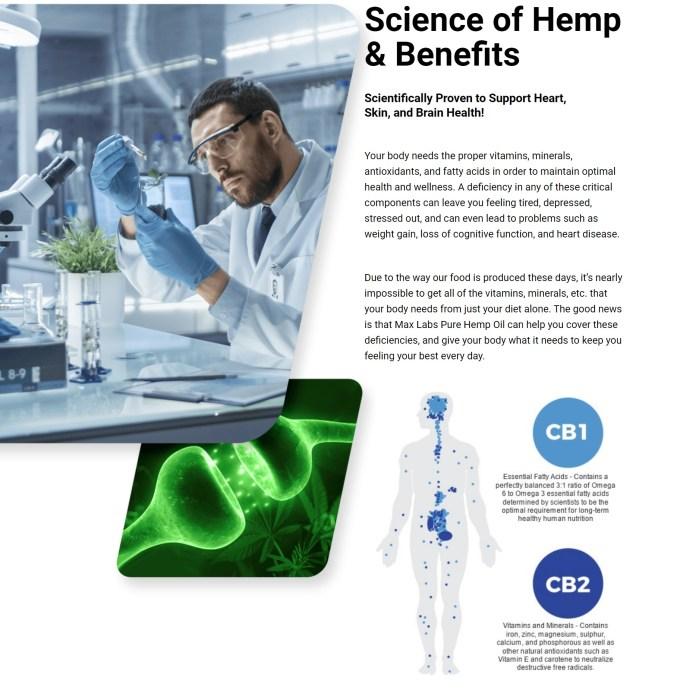 Hemp Max Lab CBD Science