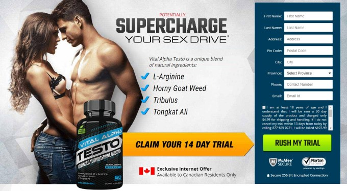 Vital Alpha Testo is an advanced muscle building formula. For best results use it with Vital Alpha Testo male enhancement. Official website & buy in CA.