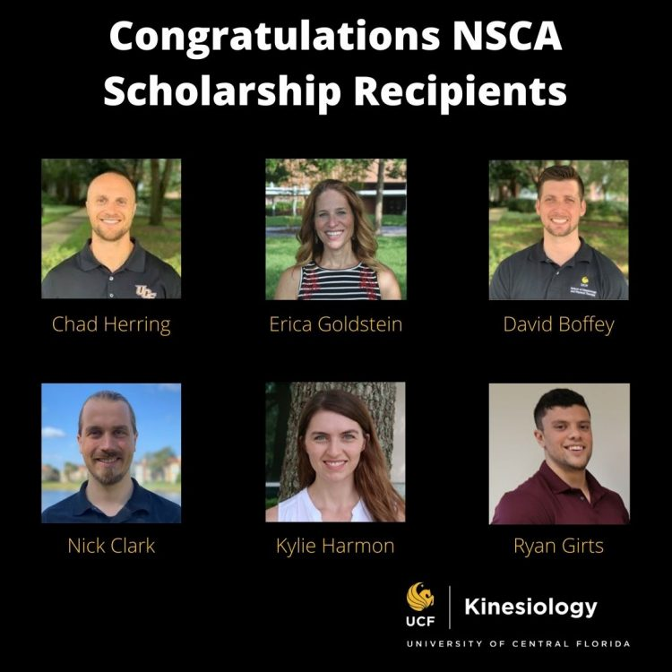 Six Kinesiology Students Earn National Scholarships