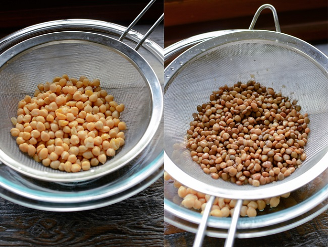 Chickpeas and lentils