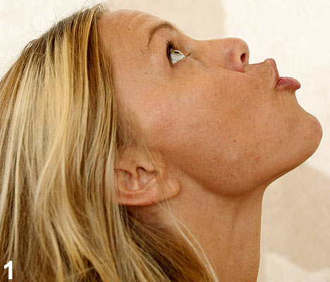 How to lose face fat Blowing air exercise
