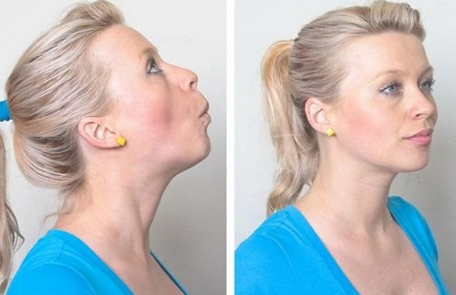 Facial Yoga Lips Pull face fat lose