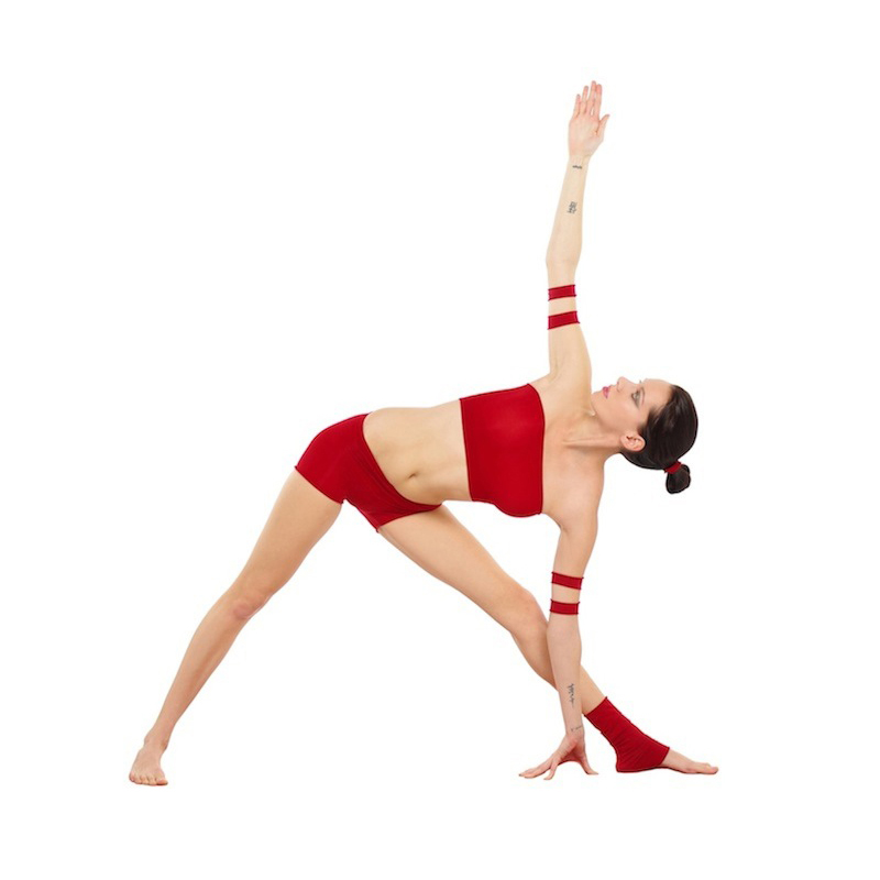 Trikonasana, triangle pose