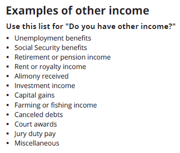 Income Questions Covered Ca