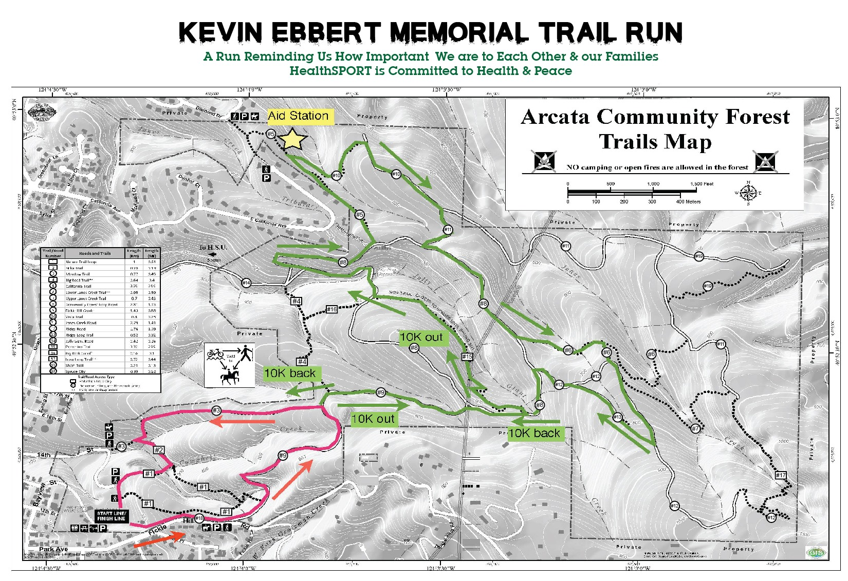 Kevin Ebbert Memorial Trail Map
