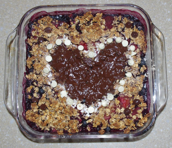 Chocolate Berry Crisp