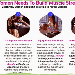 Resultz Women Muscle Booster Reviews, Ingredients & Trial Offer Here
